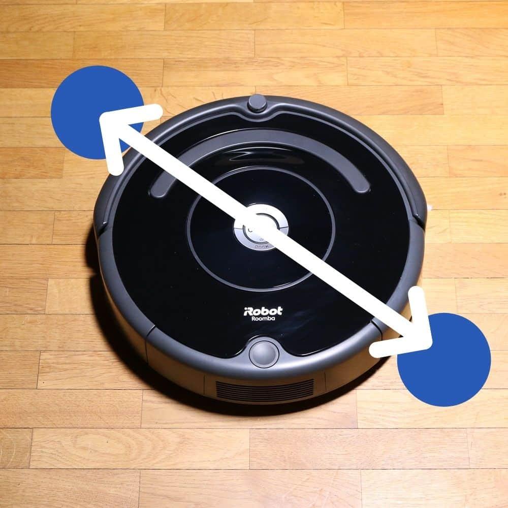 iRobot Roomba 671 Saugroboter Dimensionen