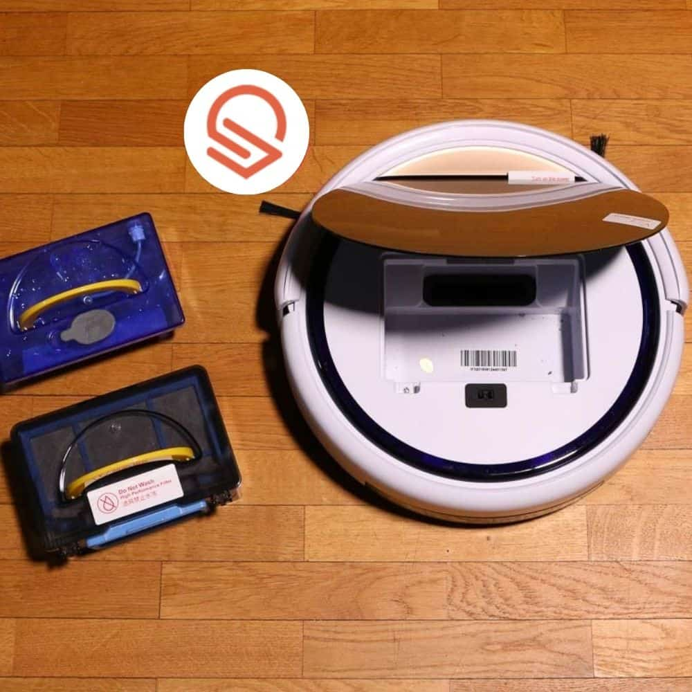 Zaco ILIFE V5s Pro Saugroboter Deckel auf